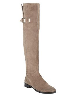 Anna Suede Knee High Boots