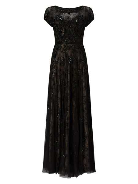 Phase Eight Schubert Lace Beaded Full Length Dress