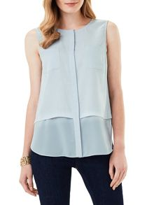 Phase Eight Megan Woven Mix Sleeveless Top