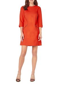 Phase Eight Ponte Zip Saphire Tunic Dress