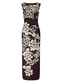 Doris Embroidered Full Length Dress
