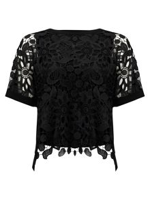 Phase Eight Georgie Lace Front Blouse