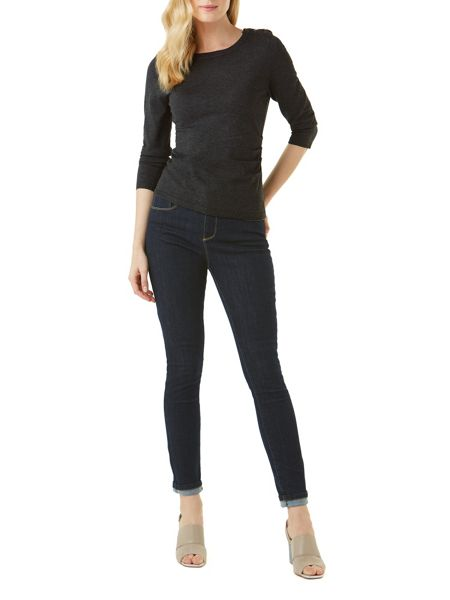 Phase Eight Editta Button Shoulder Knit Top