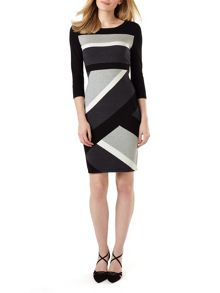 Phase Eight Dona Diagonal Block Dress