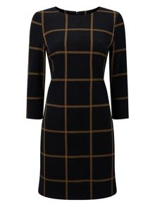 Phase Eight Check Ponte Tunic Dress