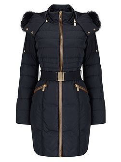 Fur Trim Paula Puffer Coat