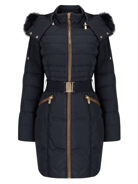 Phase Eight Fur Trim Paula Puffer Coat