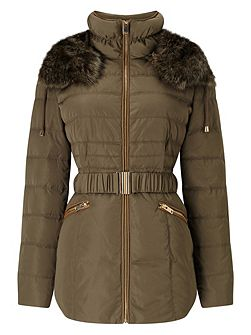 Fur Trim Paula Puffer Jacket