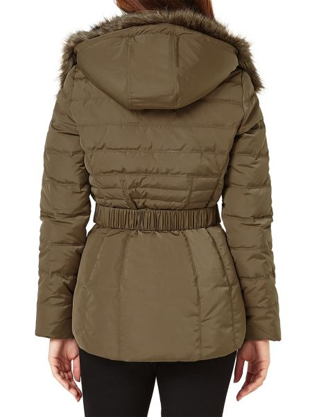 Phase Eight Fur Trim Paula Puffer Jacket