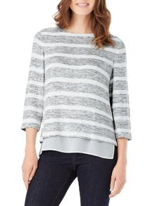 Phase Eight Rae Space Dye Stripe Top