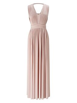 Aldora Pleated Maxi Dress