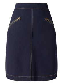 Phase Eight Florrie Denim Zip Skirt