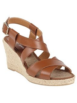 Tilly Leather Wedge Shoes