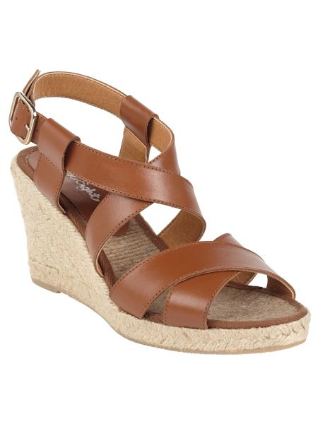 Phase Eight Tilly Leather Wedge Shoes
