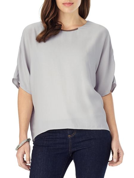 Phase Eight Leila Metal Bar Trim Blouse