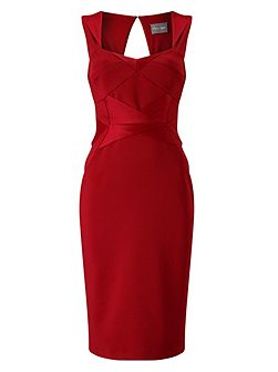 Daniela Satin Mix Dress