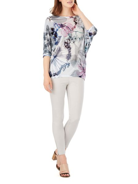 Phase Eight Delicate Floral Becca Batwing Jumper
