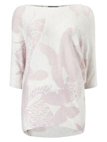 Phase Eight Butterfly Print Becca Batwing Jumper