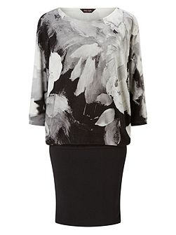Abstract Floral Becca Dress