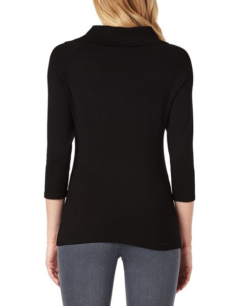 Phase Eight Shaniya Split Neck Knit Jumper