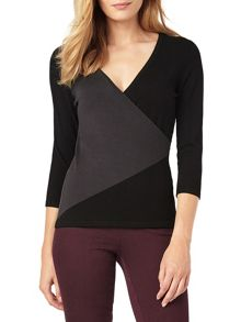 Phase Eight Colourblock Wilma Wrap Top