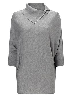 Split Neck Becca Batwing Knit Jumper