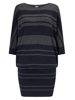 Stripe Becca Batwing Dress