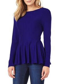 Phase Eight Maritza Peplum Knit Top