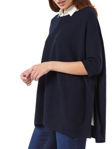 Phase Eight Rachele Shirt Poncho Knit Top