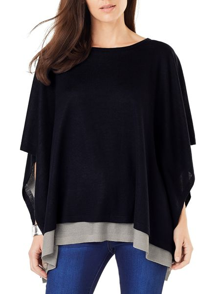 Phase Eight Cascatta Double Layer Poncho