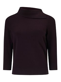 Arabela Split Neck Knit Jumper