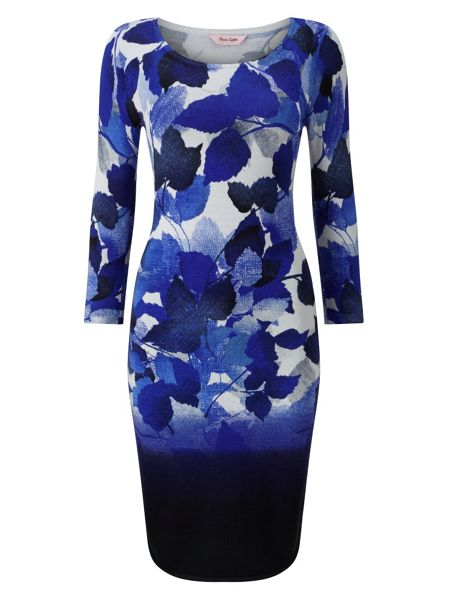 Phase Eight Dasia Dip Dye Leaf Dress