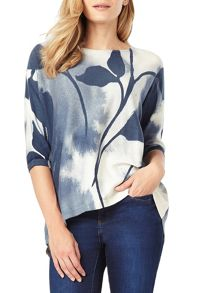 Phase Eight Allie Blurry Leaf Print Jumper