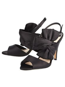 Phase Eight Aria Satin Bow Sandals