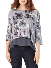Phase Eight Fraya Floral Double Layer Top