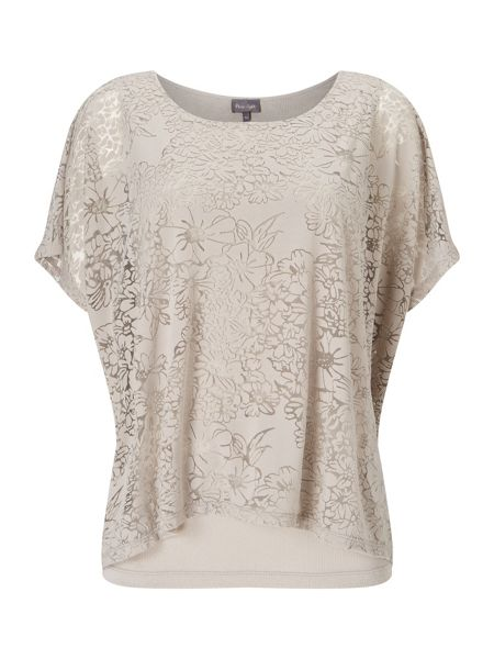 Phase Eight Fatima Floral Burnout Top