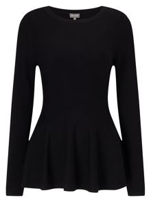 Phase Eight Maritza Peplum Knit Jumper