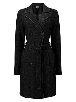 Trista Boiled Wool Trench Coat