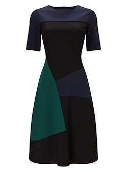 Rosie A-Line Colour Block Dress