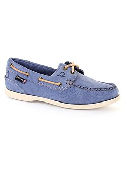 Heather g2 kudu leather boat shoes