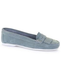 Penny suede penny loafers