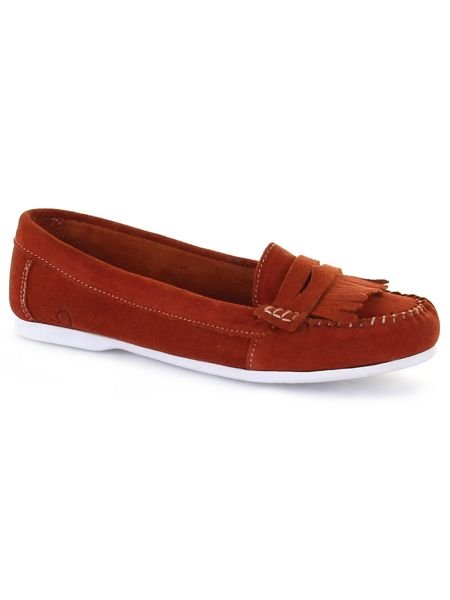 Chatham Penny suede penny loafers
