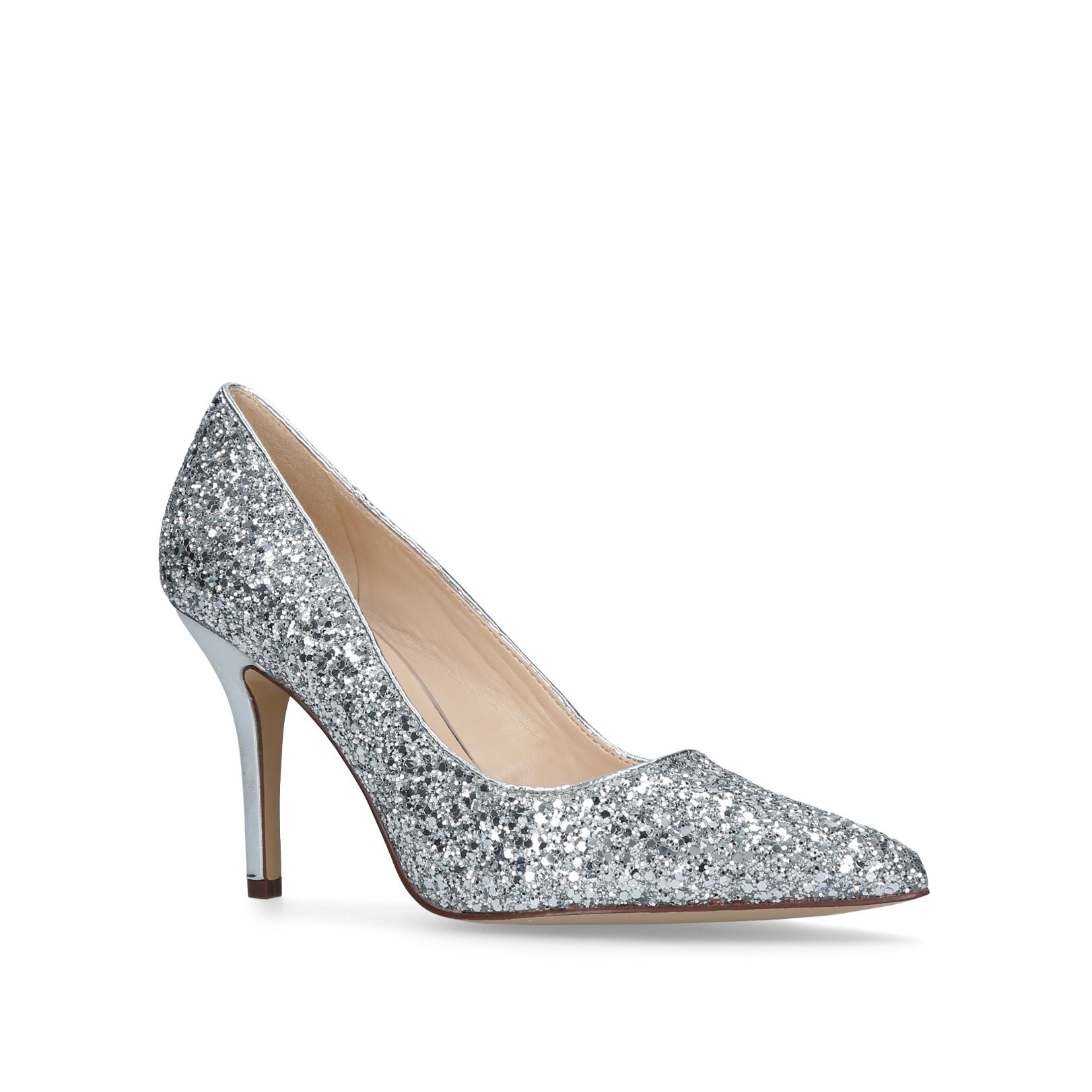Nine West Flagship court shoes, Silver