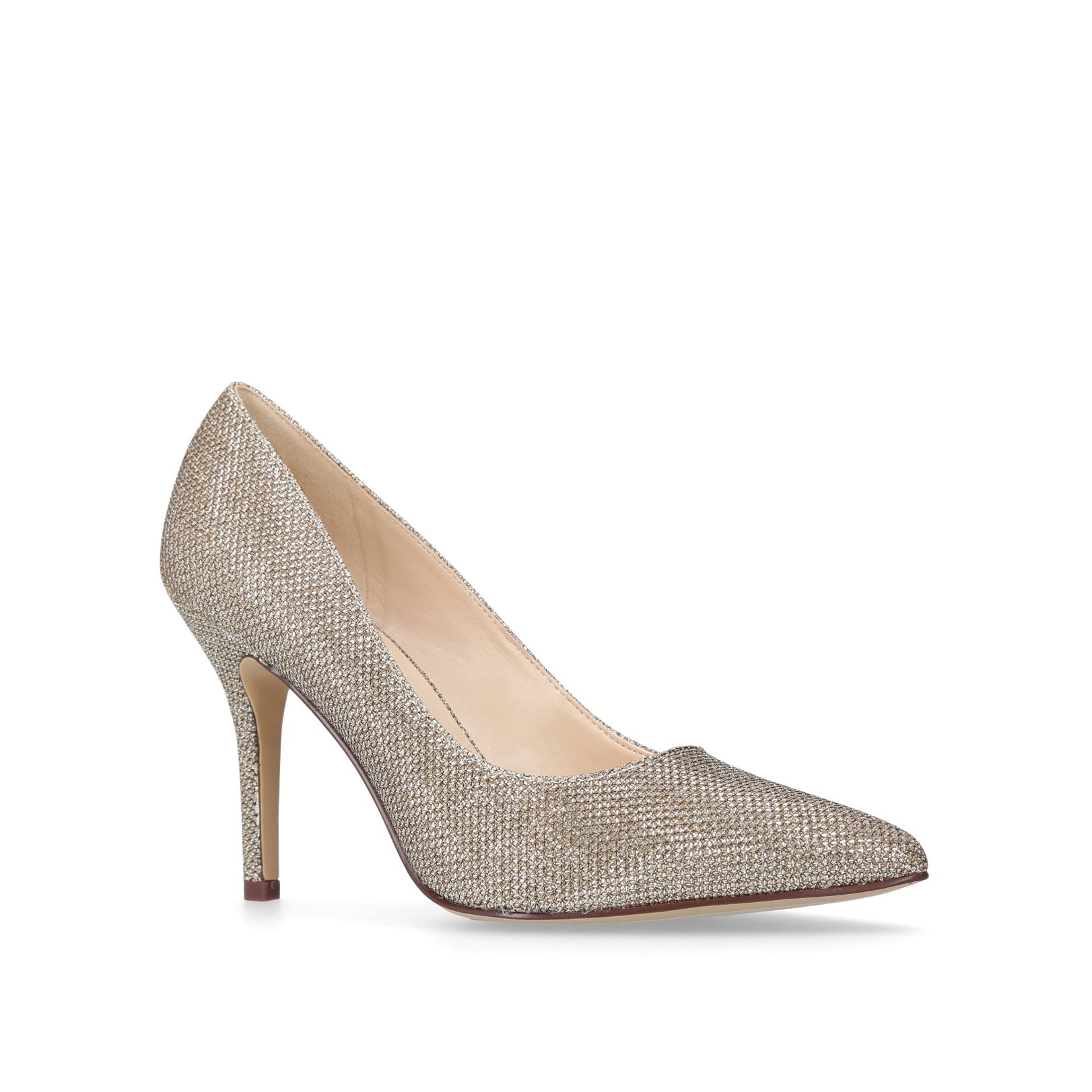 Nine West Flagship court shoes, Gold Silverlic