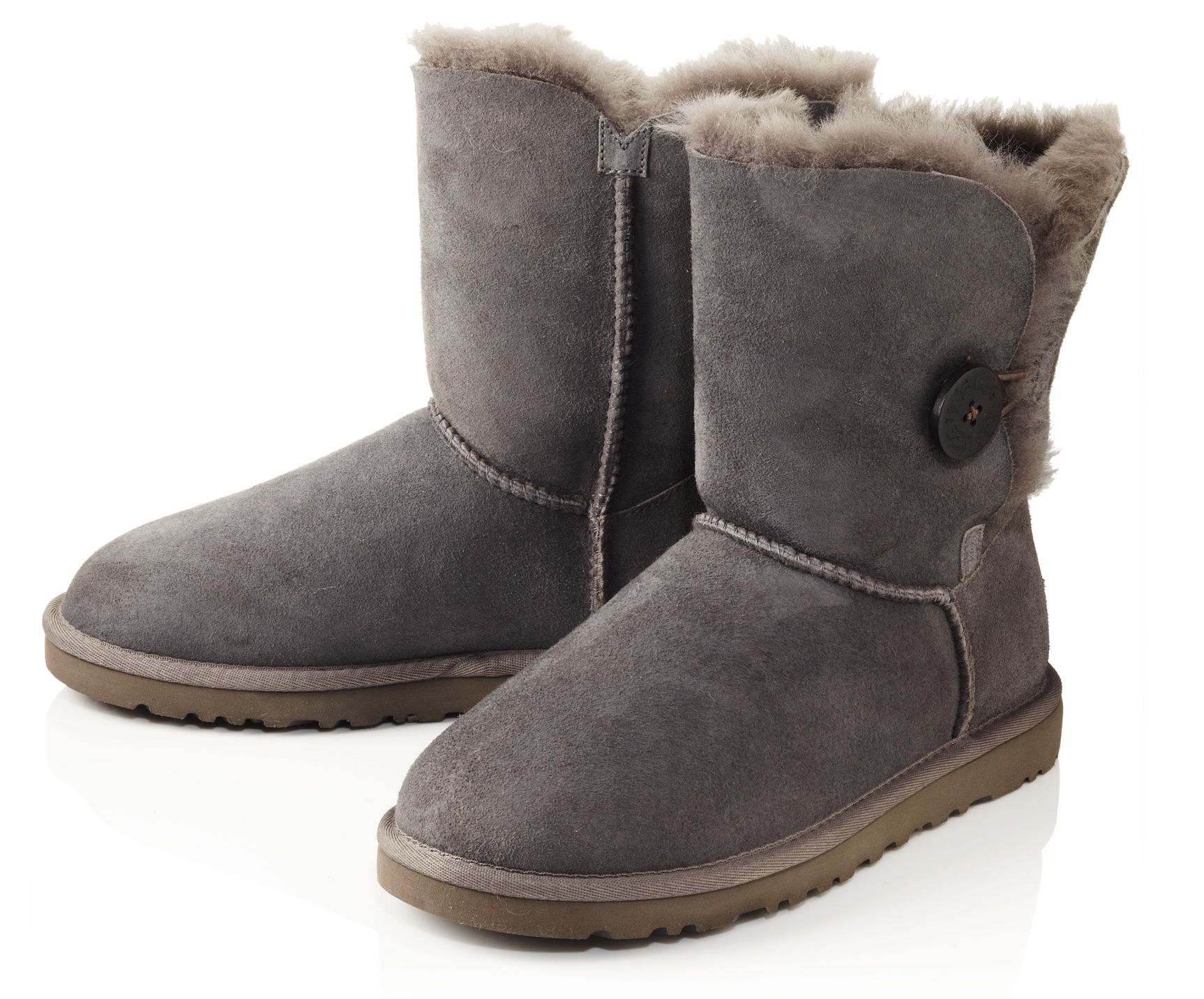B Button Grey boots