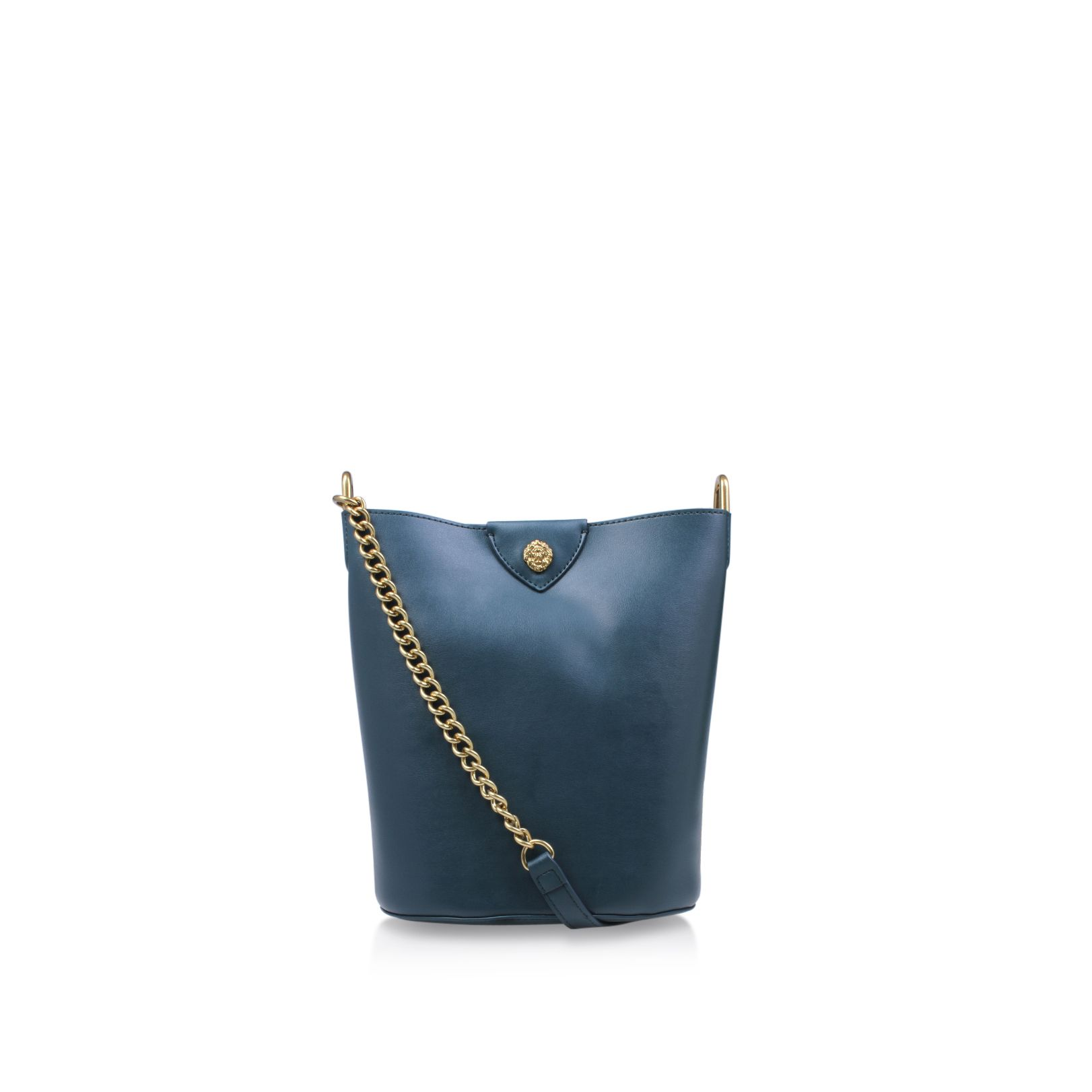 Anne Klein Mila Chain Bucket Bag, Dark Green