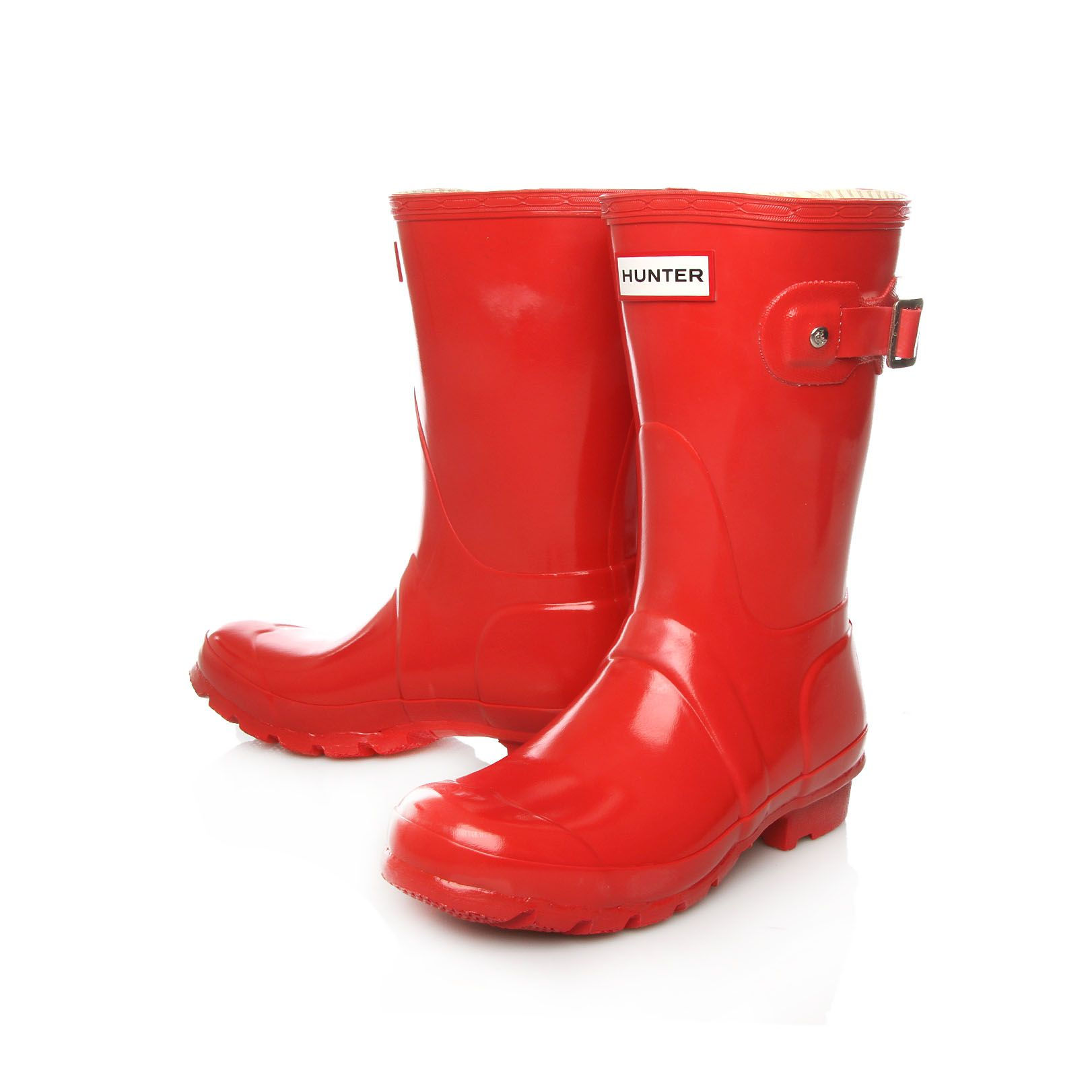 Original gloss short boots