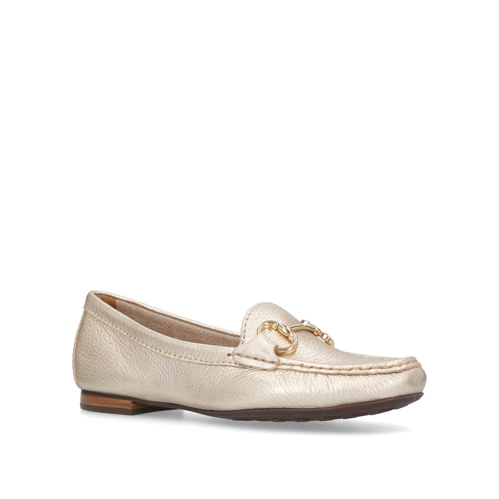 Carvela Comfort Cindy Loafers, Gold Silverlic