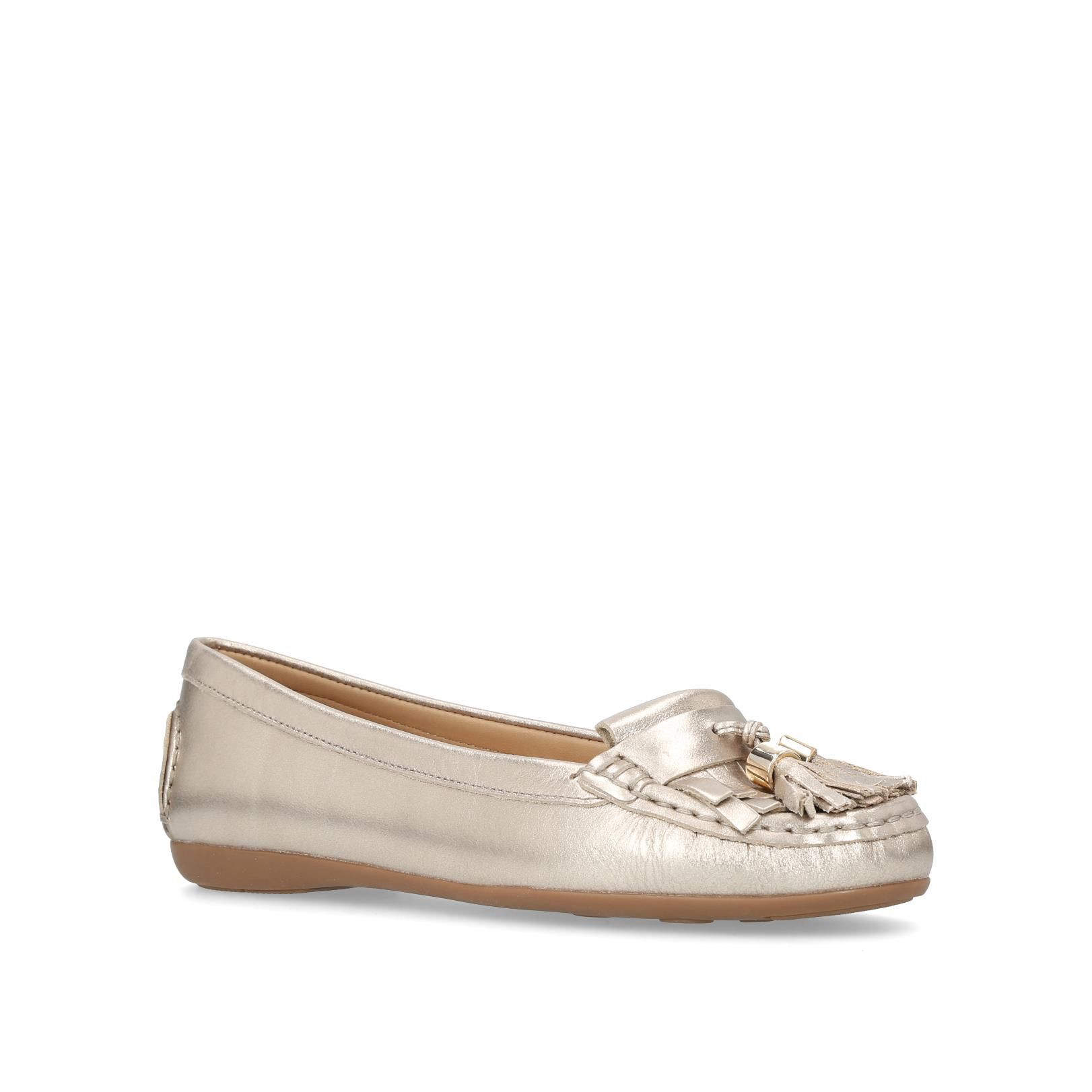 Carvela Comfort Chloe Loafers, Gold Silverlic