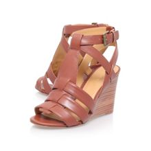 Farfalla high heel wedge sandals
